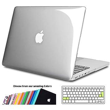 iNeseon Funda MacBook Pro 13 Retina, Carcasa Case Duro y Cubierta del Teclado Transparente EU Layout para para MacBook Pro 13.3 Pulgada Modelo A1502 e ...