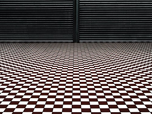 Jplo9|#Jp London MACR1X675242 Jpl and Gilbert Claes Present The Hypnotic Floor Checkerboard Vintage Geometric 36In by 24In 1/8In Thick Solid Acrylic High Def Wall Art