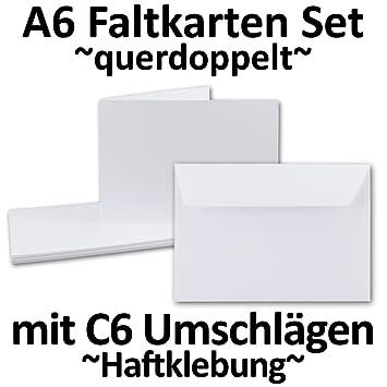 Din A6 Faltkarten Set Doppelkarten Querdoppelt Langdoppelt