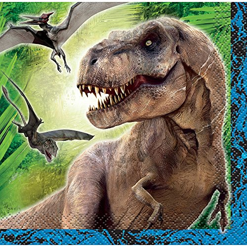 Jurassic World Beverage Napkins, 16ct (Around The World Party Costume Ideas)
