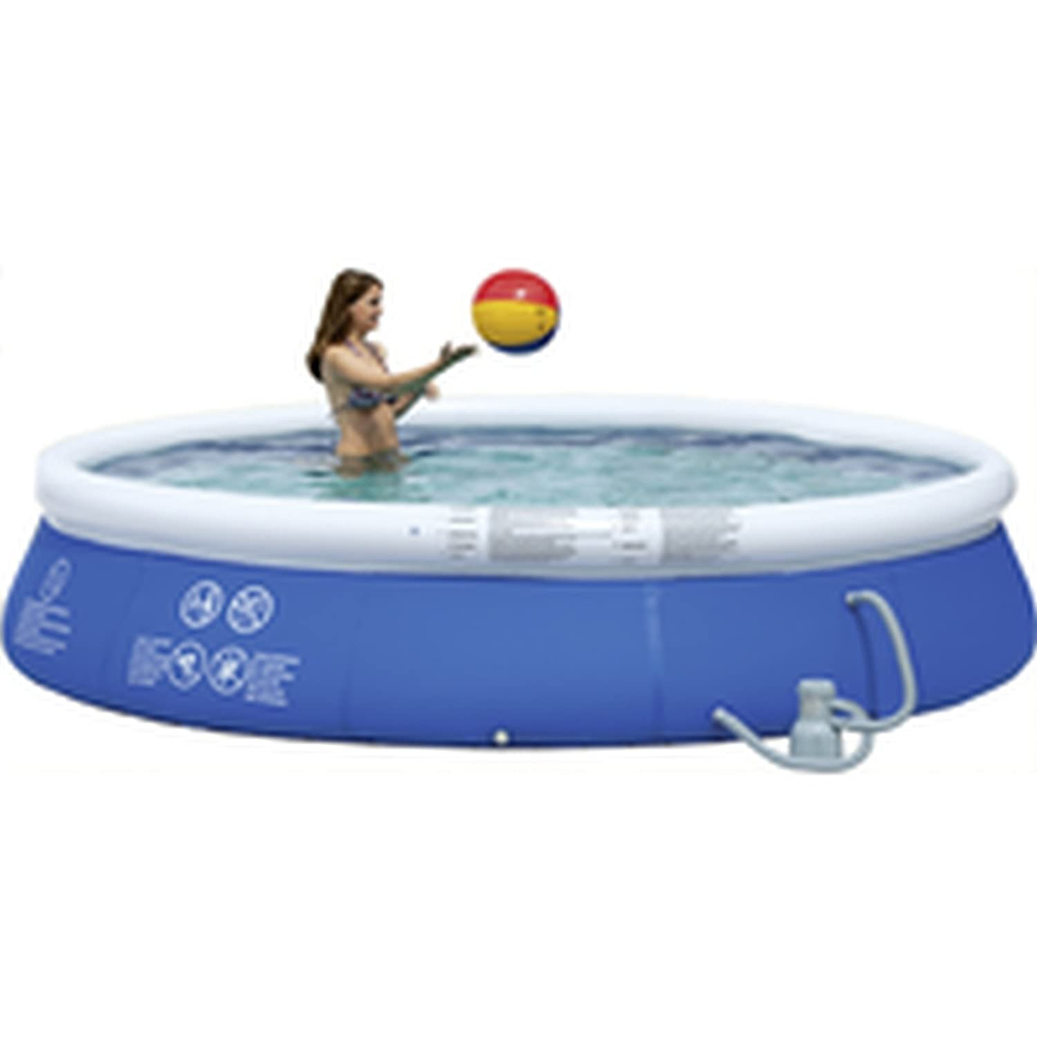 Wehncke Quick-Up-Pool Set, Ø 350 x 76 cm (12471)