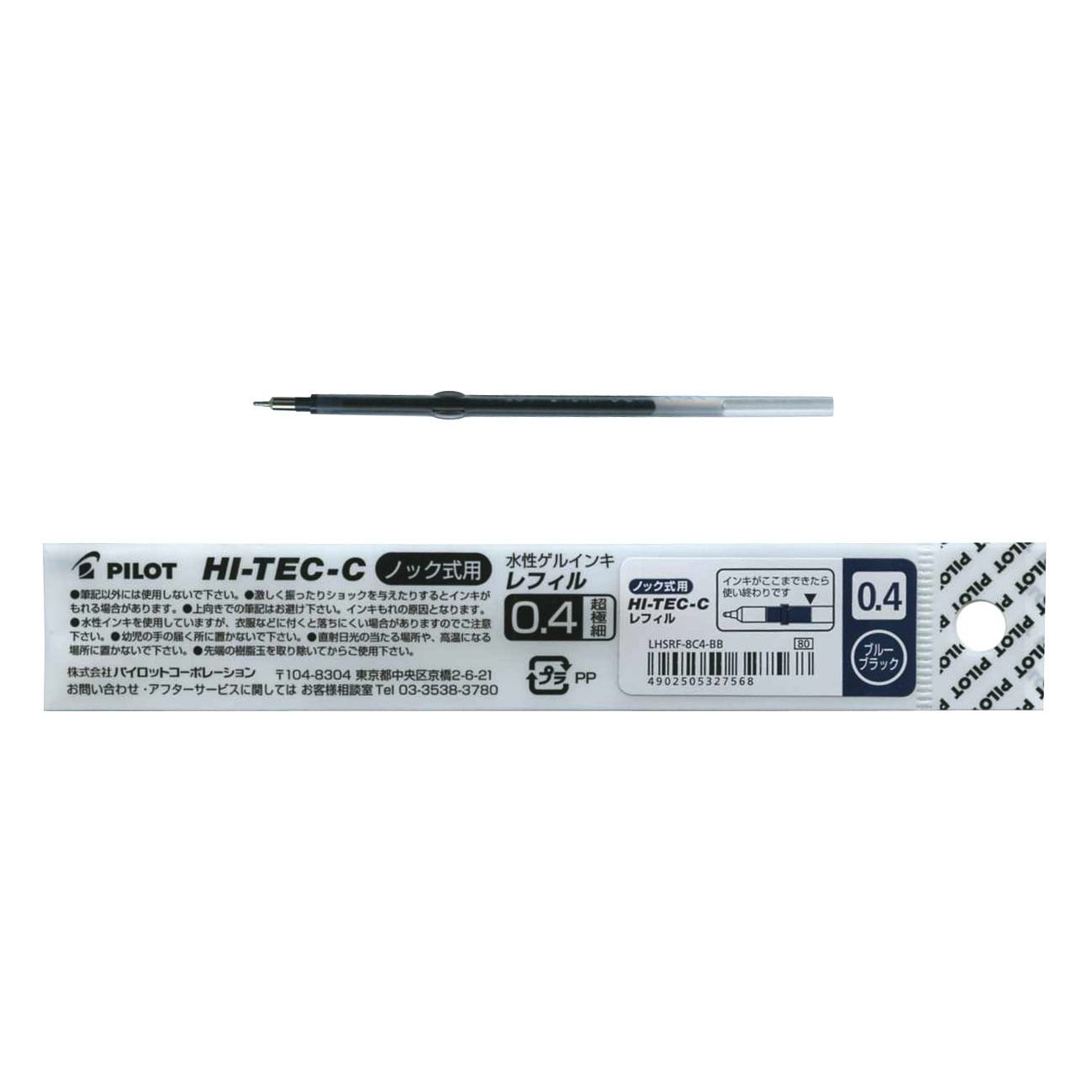 Pilot Hi-Tec-C Slim Knock Ballpoint Pen Refill 0.4m [01GR0CV8]