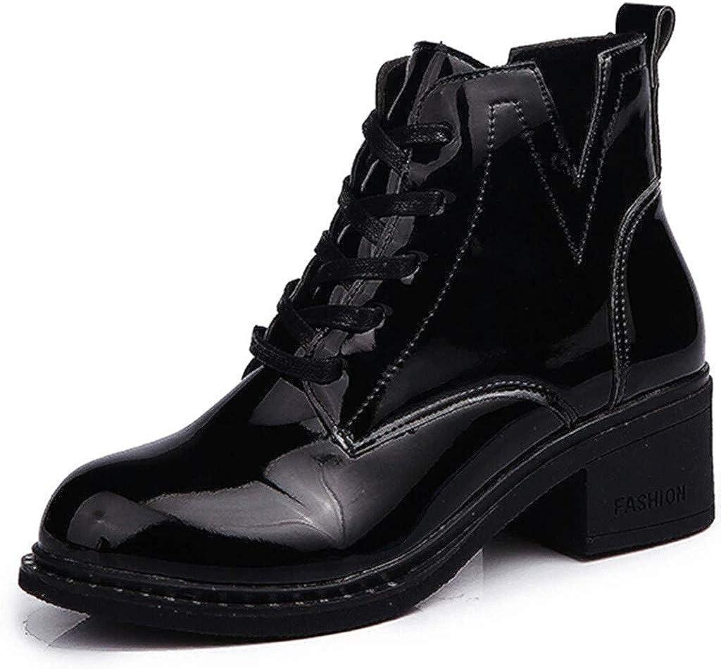 Eclair avec Bottines Bottine Fermeture Boots Retro Pointu Chelsea Bout Femmes à Moonuy Chaussure Mode Lacets Style Femmes Hauteur Cheville Talons Bloc PkXZiuO