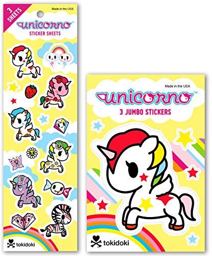 Re-marks Tokidoki Unicorno Sticker Sheet and Jumbo Sticker (3 Stickers Sheets & 3 Jumbo Sticker Sheets)