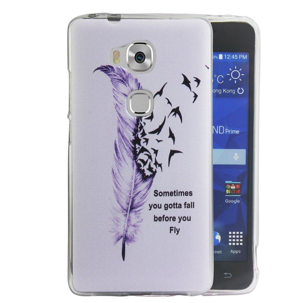 Dooki Honor 5X // GR5 Coque Mince Souple Caoutchouc GEL T/él/éphone Couverture Housse Coque Etui Pour Huawei Honor 5X // GR5 A0-3