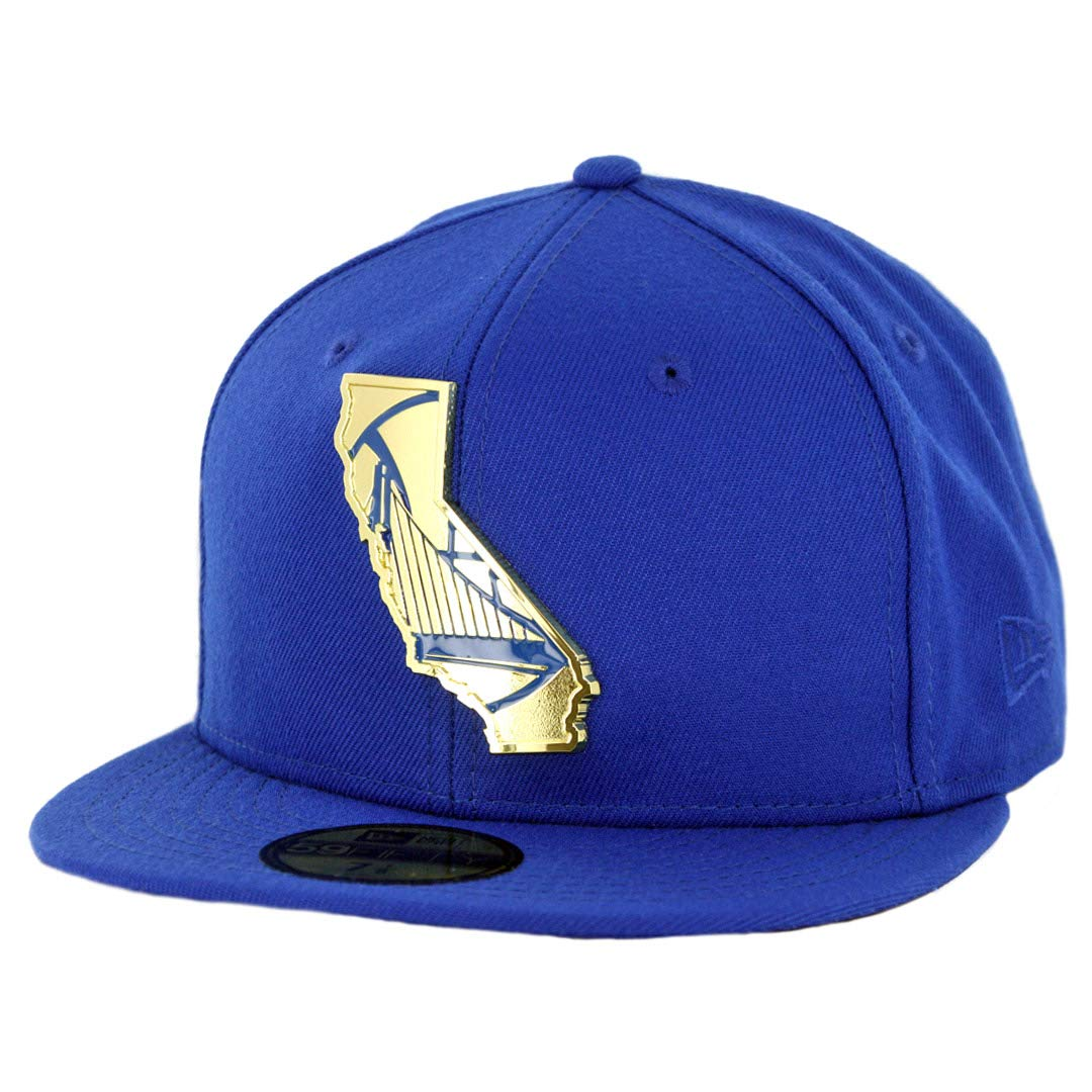 Amazon.com   New Era 5950 Golden State Warriors Gold Stated Fitted Hat (Royal  Blue) NBA Cap   Sports   Outdoors 58bfe64de1e