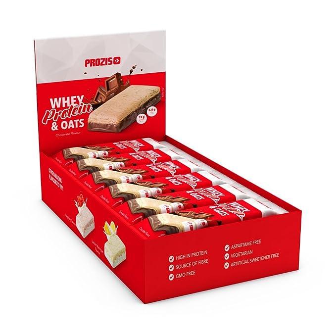 Prozis Whey Protein & Oats, Sabor Frambuesa - 12 Unidades: Amazon.es: Salud y cuidado personal