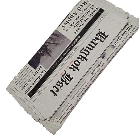 Billetera RFID para mujer Personalidad Periódico Bolsa de ...