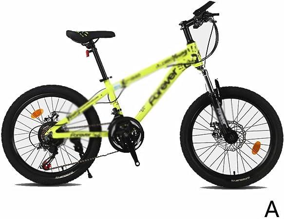 Bicicletas de montaña, montaña, niño, niña, niña, 20 Pulgadas, Marco de aleación de Aluminio, Freno de Disco Doble mecánico (Color : A, Size : 20inches): Amazon.es: Hogar