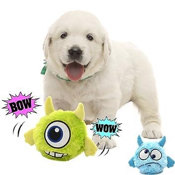 FIRIK Juguete para perros con sonido interativo juguete perros peluches movimiento electrónico juguete peluches mascotas para