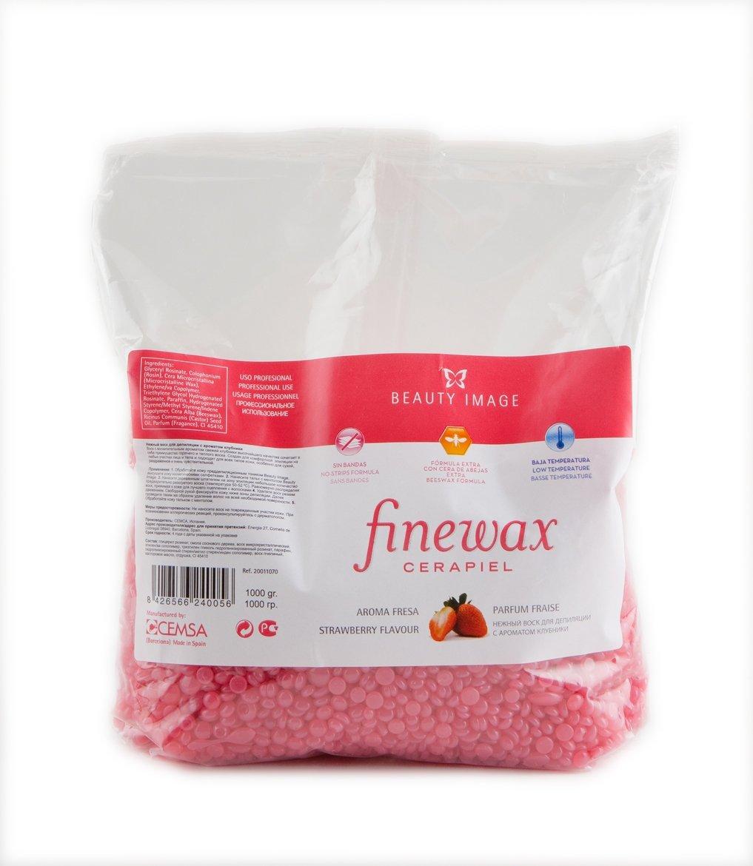 Beauty Image Strawberry Hot Wax Finewax 1Kg CEMSA 100053