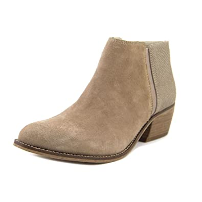 Dune London Women's Penelope Taupe Suede/Reptile Boot 36 (US Women's ...
