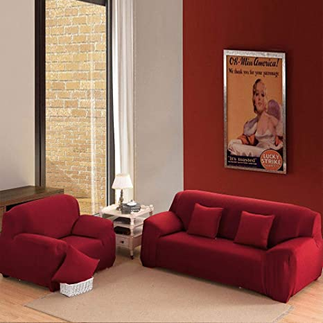 Amazon.com: Haihuic Funda de sofá elástica, funda de sofá de ...