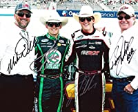 4X AUTOGRAPHED Austin Dillon / Ty Dillon / Mike Dillon / Richard Childress FULL FAMILY PICTURE (Pit Road) 8X10 Signed NASCAR Glossy Photo with COA by Trackside Autographs