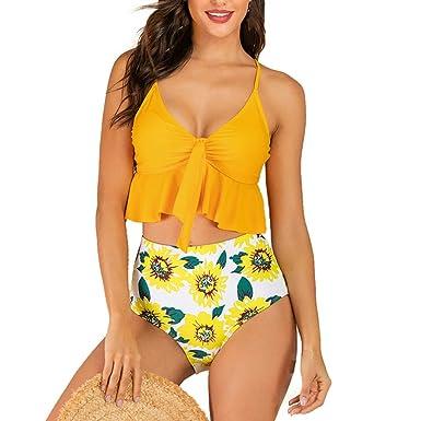 Poachers bañadores de Mujer Natacion 2 Piezas sujecion Traje de baño Mujer Cintura Alta Bikinis Mujer 2019 Push up Tanga Traje de baño Mujer Sexy ...
