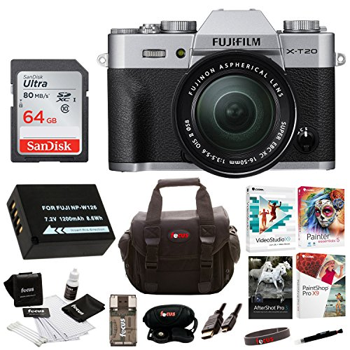 Fujifilm X-T20 Camera Body w/ XC16-50mm Lens Kit + 64gb Bundle