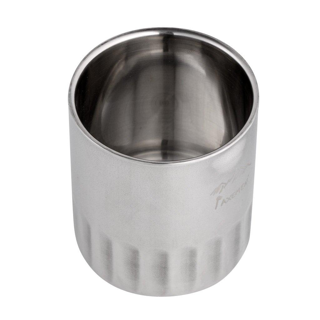monkeyjack 120 ml / 180ml二重壁シルバーステンレススチール断熱材ホットコーヒーDrinking Cup Travel Mugアウトドアキャンプピクニック調理器具アクセサリー 120ml, 5.7x6 cm シルバー f3a4fe71123856a05b0fbf95567108b5 120ml, 5.7x6 cm  B072BBM86C