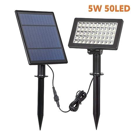 ZYYBRE Proyector Solar Led,con Paneles Solares,Luz De Seguridad ...