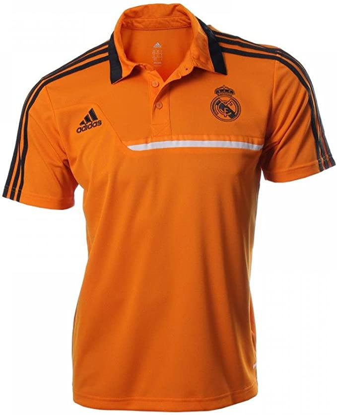 Polo Real Madrid -Naranja- 2013-14: Amazon.es: Deportes y aire libre
