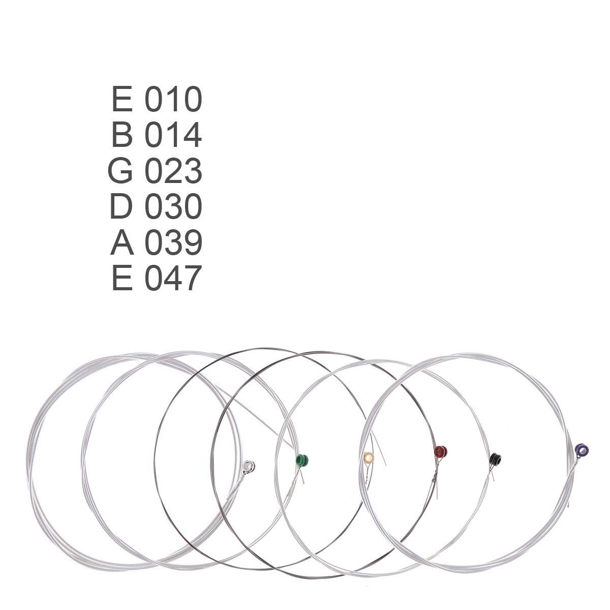 FMingnian, 6pcs / set 010-047 Cuerdas de guitarra acústica Alambre ...
