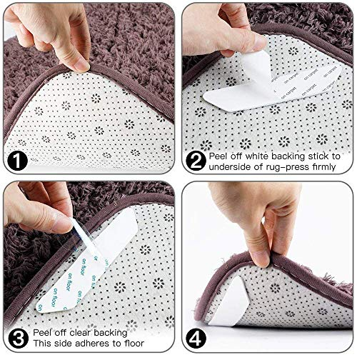 Cevikno Teppichgreifer Antirutschmatte, 16 Stück Antirutschmatte für Teppich, Rug Grippers Rutschfester Teppichunterlage, Washable Wiederverwendbar Teppich Aufkleber Starke Klebrigkeit