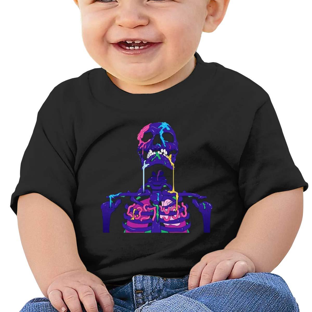 MONIKAL Unisex Infant Short Sleeve T-Shirt Zeds-Dead Toddler Kids Organic Cotton Graphic Tee Tops