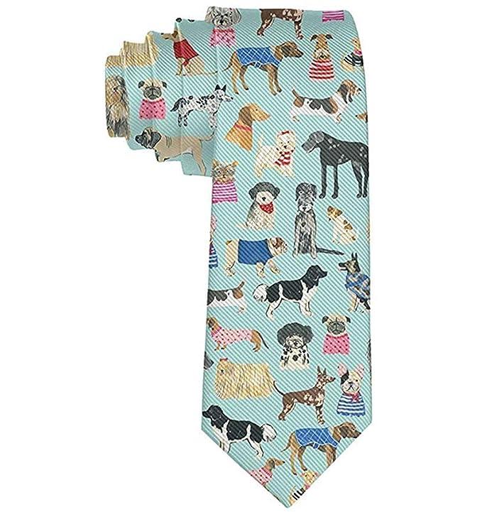 Corbata Corbatas divertidas Colorido Samoyedo Pug Bulldog Golden ...