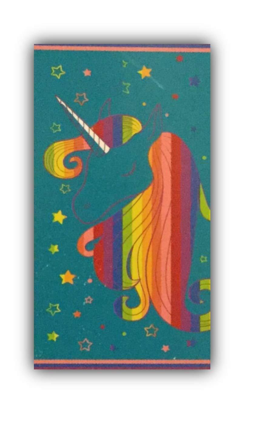 Members Mark Believe in Magic Unicorn Beach Towel for Children-30''X60'' Multi Color
