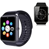 Pandaoo Smart Phone Watch with Universal Unlocked GSM HD LCD Camera Fitness Tracker Bluetooth Mate for Android Smartphones(Black)