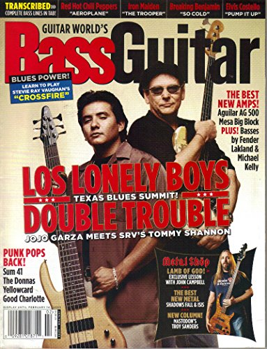 Guitar World's Bass Guitar. January/February 2005. Tommy Shannon and Jojo Garza