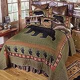 Black Forest Decor Sage CreekBear Quilt Bed Set - Queen