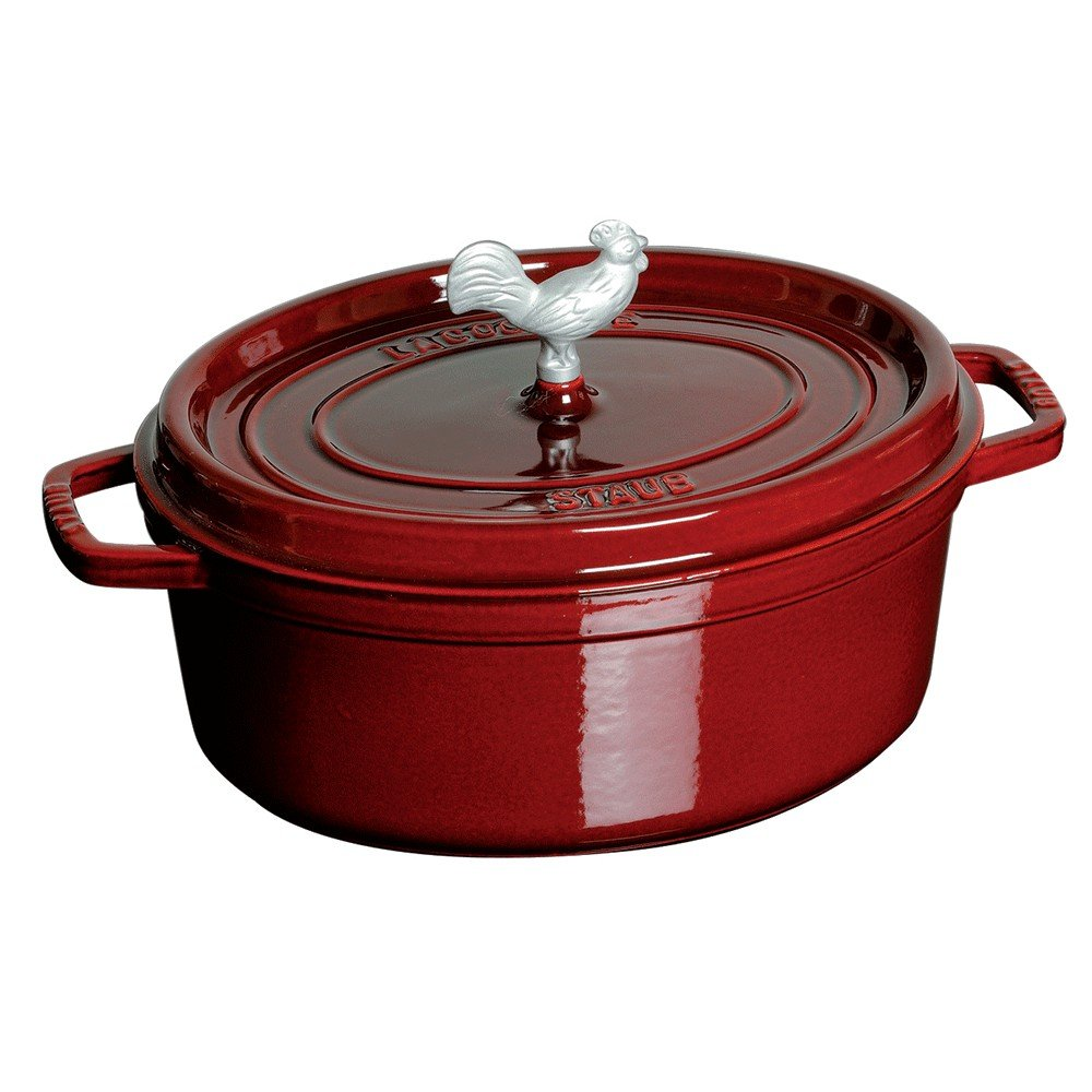 Pepper Red 3.85QT REVOL 649675 RV21131 Induction Oval Cocotte