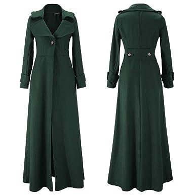 Mantel bodenlang damen