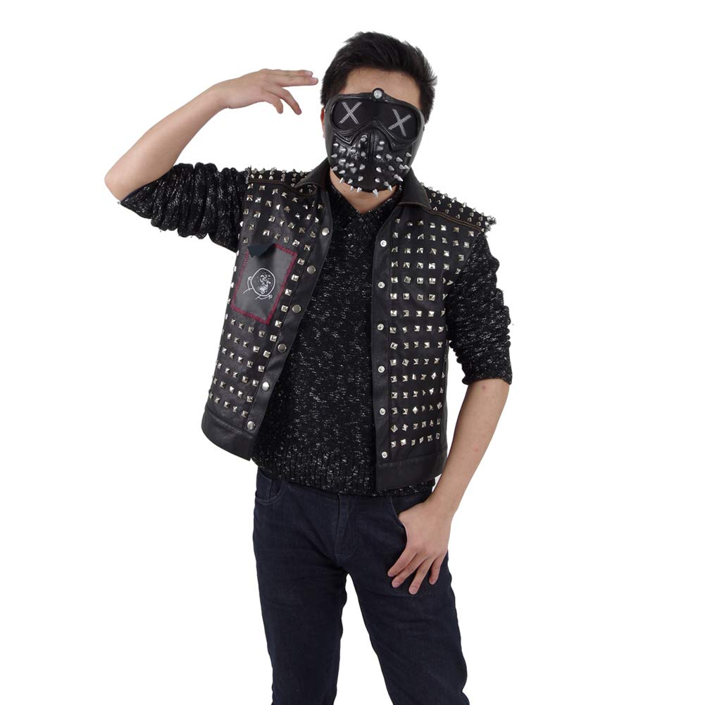 Men's Wrench Leather Jackets Black Vest Halloween Cosplay Costumes by Costume Party Heart (Image #5)