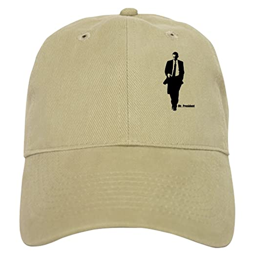 CafePress - Mr. President (Obama Silhouet Cap - Baseball Cap with Adjustable  Closure 80163d6a792c