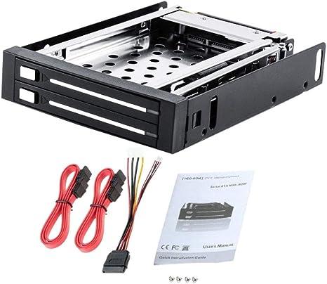 Dual 2,5 Sata Ssd/HDD Móvil Rack 2,5 Interna Disco Duro Caso Caja ...