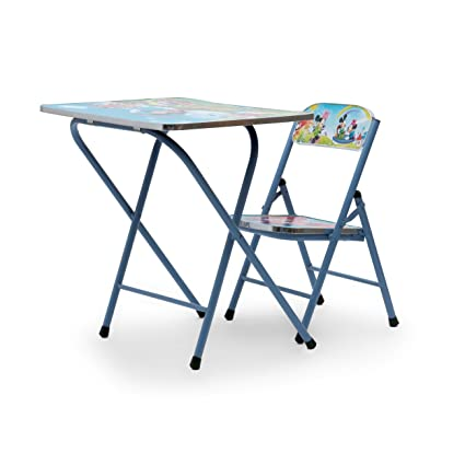Powerpak Foldable Portable Wooden Kids Study Table And Chair Set