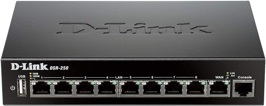 D-Link DSR-250 8-Port Gigabit VPN Router with Dynamic Web Content Filtering