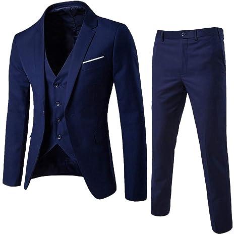 55c0426c88 Amazon.com: Big Daoroka Men's 3-Piece Slim Suit Jacket Coat Autumn Winter  Business Wedding Party Jacket Vest & Pants Fashion Casual Outwear: Toys &  Games