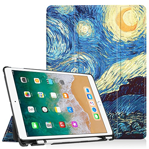 Fintie iPad Pro 10.5 Case with Built-in Apple Pencil Holder - [SlimShell] Ultra Lightweight Standing Protective Cover with Auto Wake/Sleep for Apple iPad Pro 10.5 Inch 2017 Tablet, Starry Night