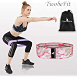 TwobeFit Resistance Bands Exercise Bands Hip Resistance Booty Bands Workout Bands Wide Exercise Resistance Bands for Legs and Butt Fitness Sports