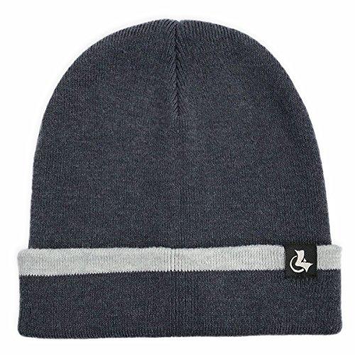 Cuff Beanie,Warm Winter Slouchy Hat Knit Skull Cap For Men & Women Grey (Logo Knit Cap)