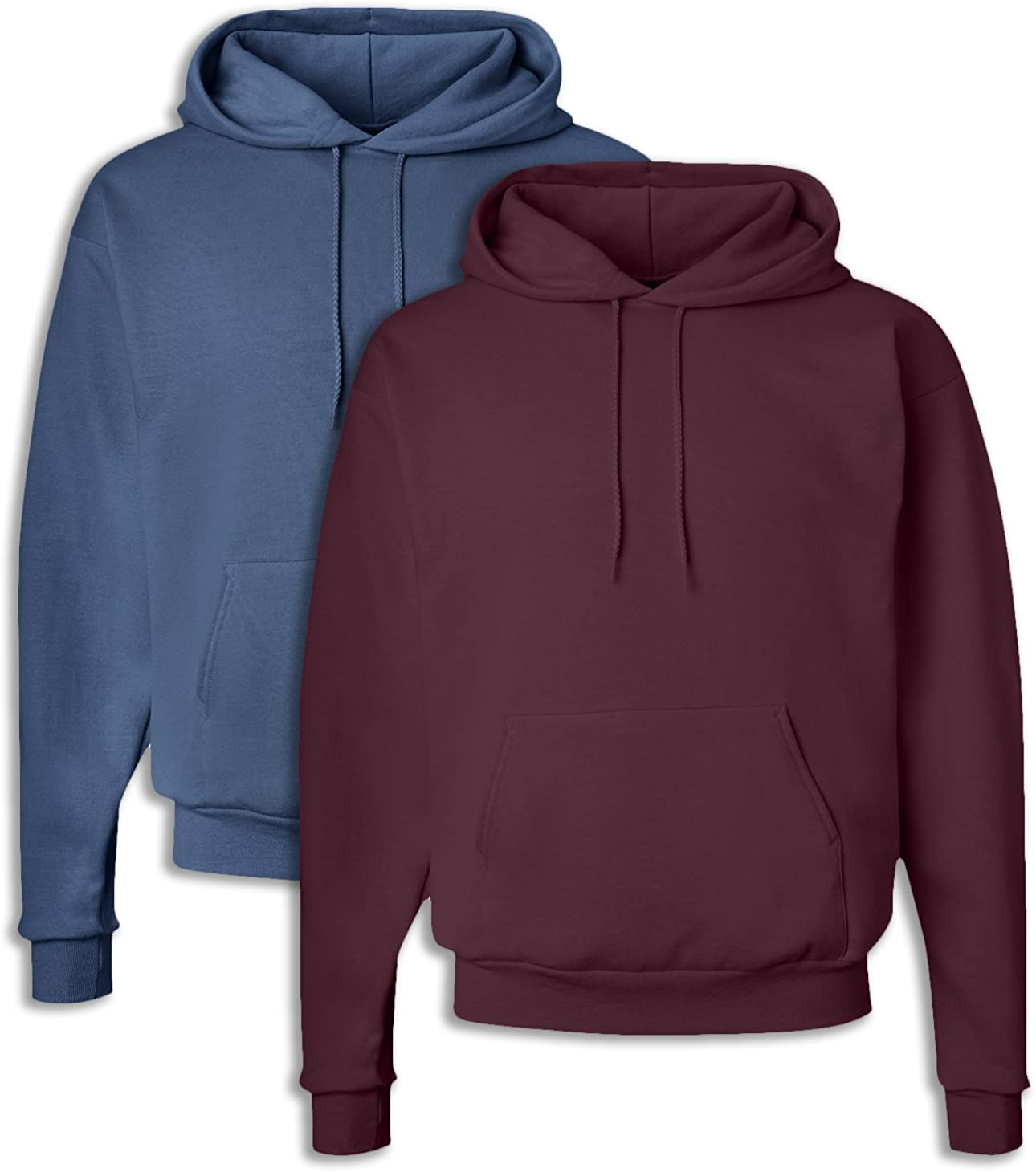 1 Maroon Hanes P170 Mens EcoSmart Hooded Sweatshirt 3XL 1 Denim Blue