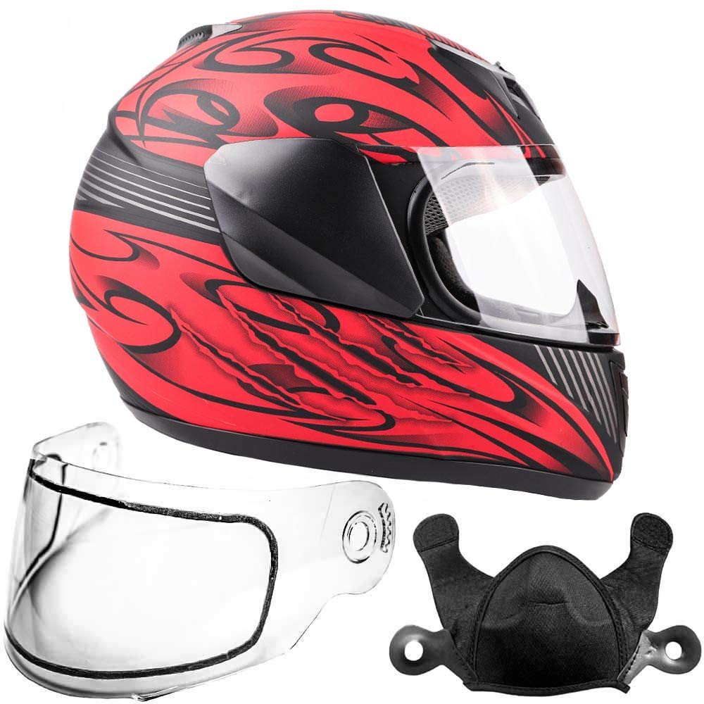 Amazon.es: Juventud niños nieve Full Face - Casco de esquí, color rojo