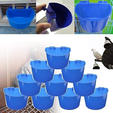Yongse 1pcs Azul Colgador de Agua de alimentación Jaula Tazas ...