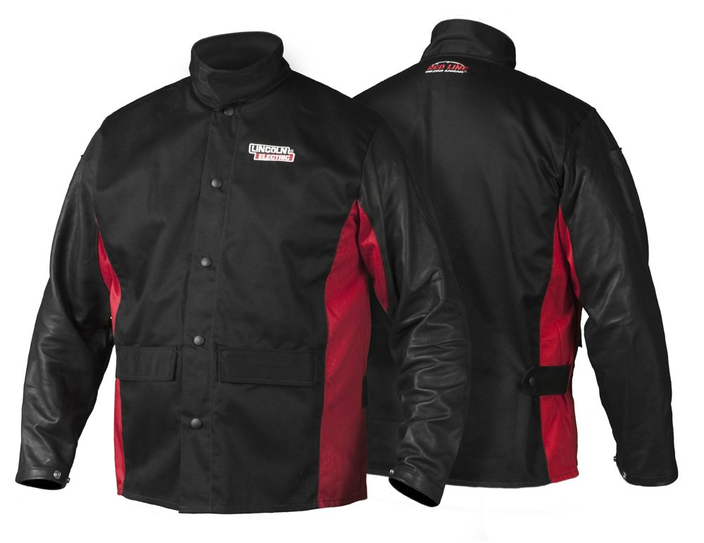 Lincoln Electric K2987 Shadow Grain Leather Sleeve Welding Jacket XXL