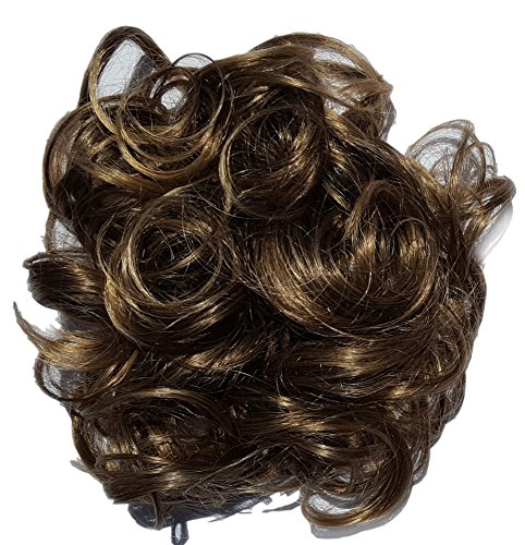 Synthetic-Hair-Scrunchie-Add-On-Hairpiece-Brown-with-Blonde-Tip-8T124