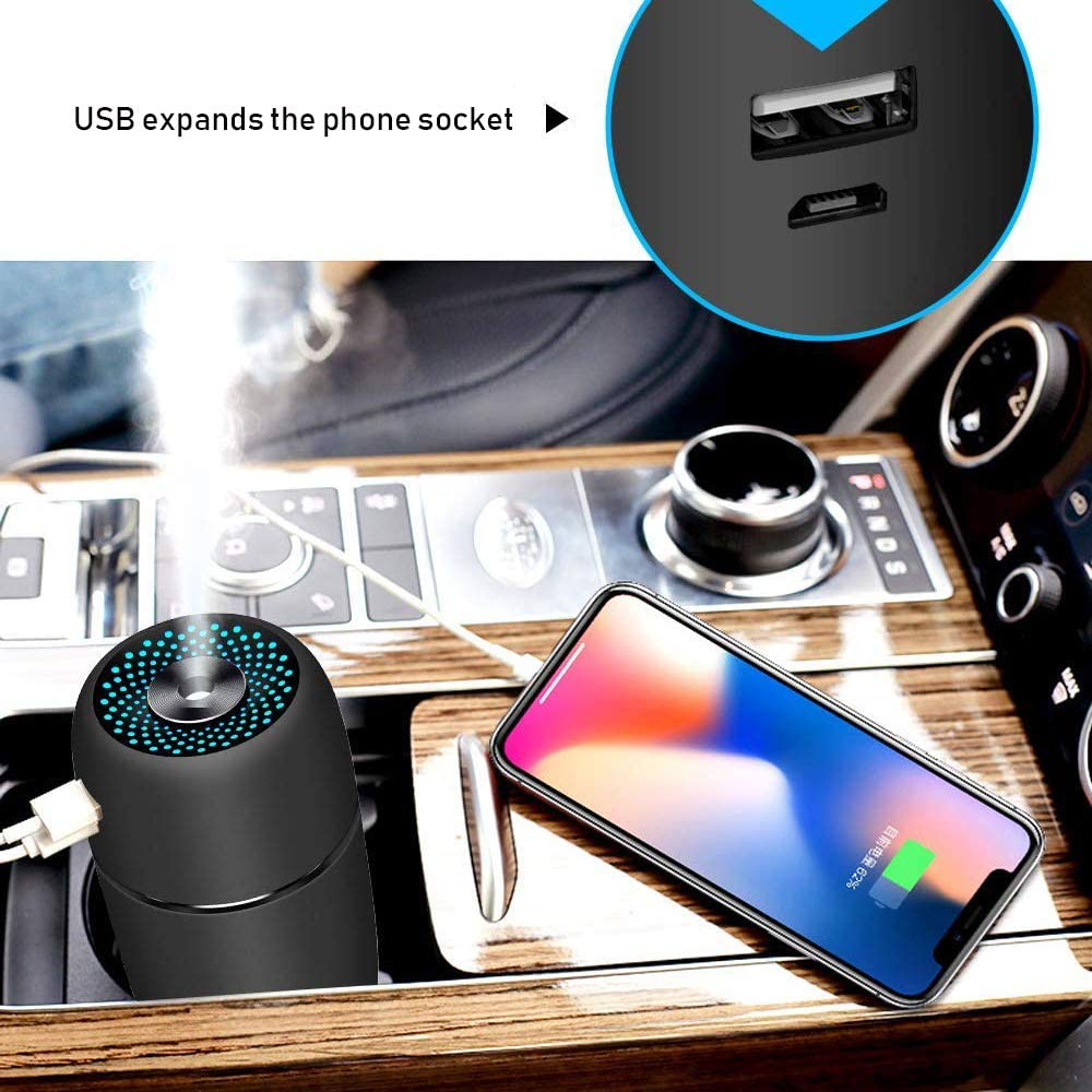 Epoch Making USB Car Humidifier, White
