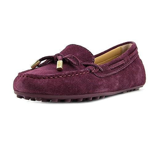 Michael Kors Mujeres Daisy Moc Piel Mocasines, Plum, Talla 7.5: Amazon.es: Zapatos y complementos