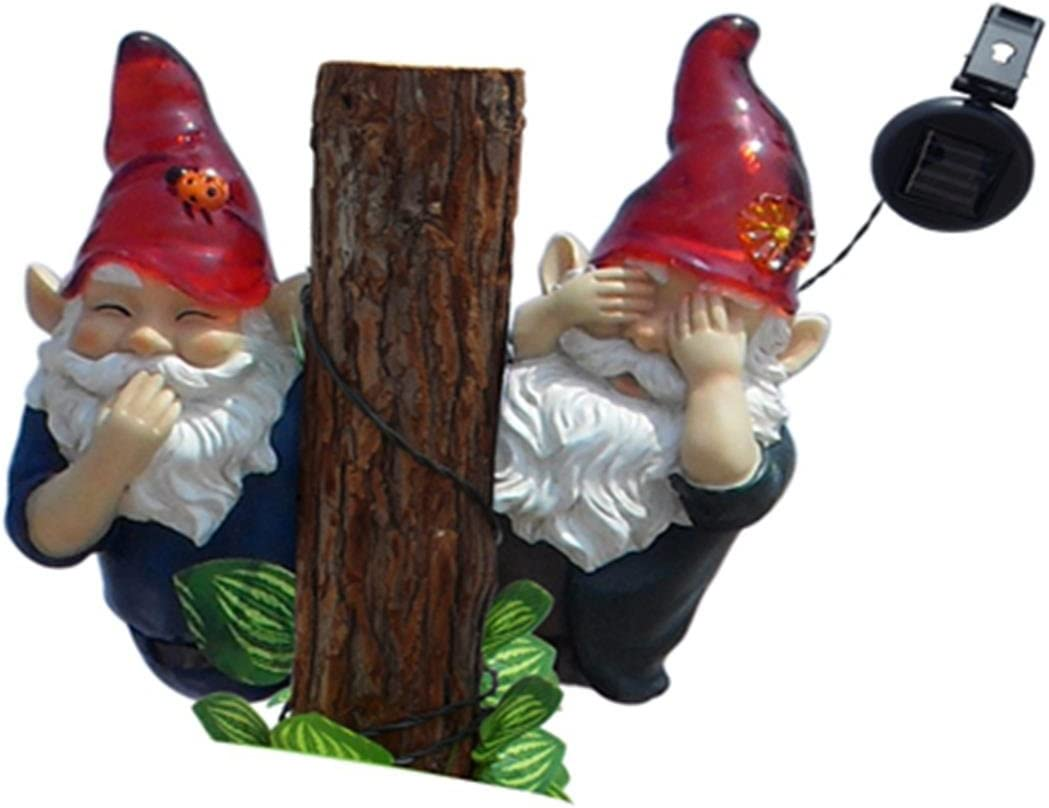 GSL SS-GSL-F0021 Gnomes No Speak, No See, Solar Light